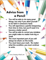Advice From a Pencil