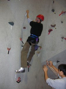 Simon Says for Climbing Walls