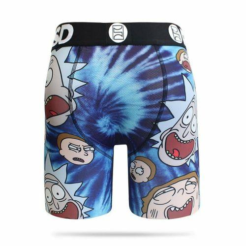 PSD Rick and Morty Tie Dye Heads Boxer Briefs - Posh By K Mens underwear, psd,sexy underwear, breathable mens underwear, printed design, sexy mens underwear, boxer brief, daily boxer, trendy boxer briefs,PSD collection