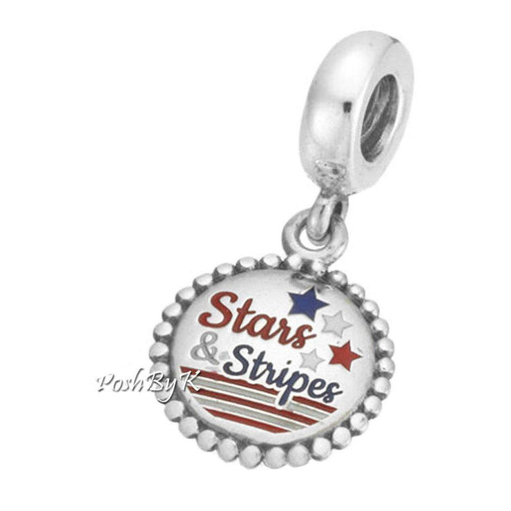 Pandora Stars and Stripes Charm ENG791169_42 - Posh By K