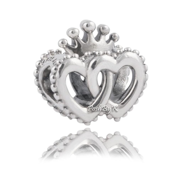 Pandora Two Connected Regal Hearts Charm 797670 - Posh By K