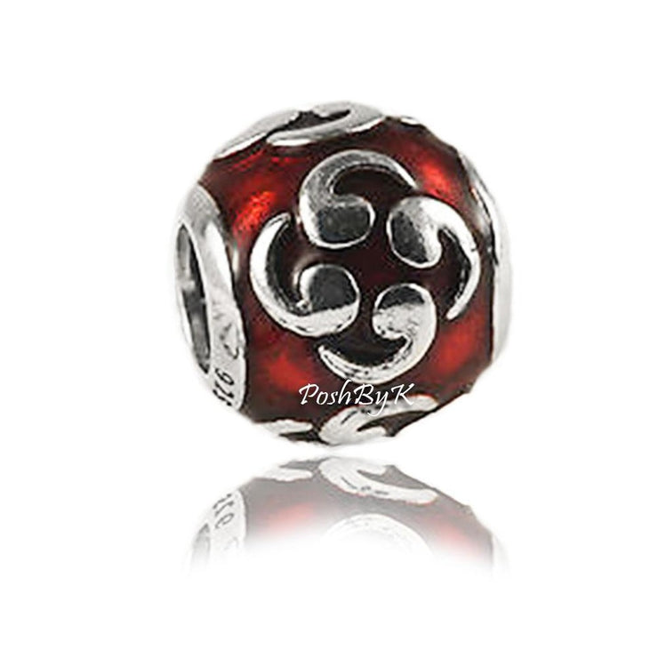 Pandora Enamel Flower Zen Orange Charm 790491EN14 - Posh By K