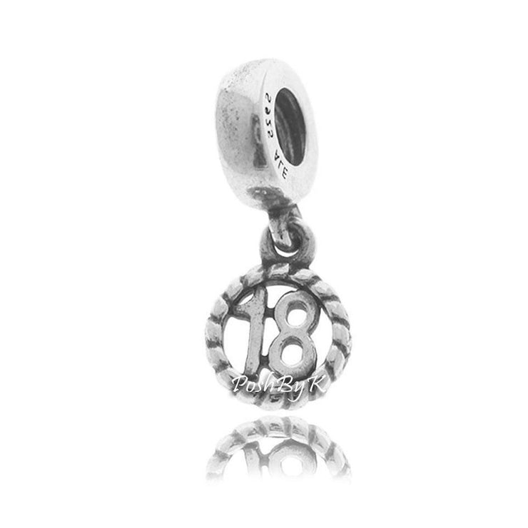 Pandora 18th Birthday Charm 790495 - Posh By K