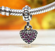 Pandora Red Pave Heart Pendant Charm 791023CZR *Retired* - Posh By K
