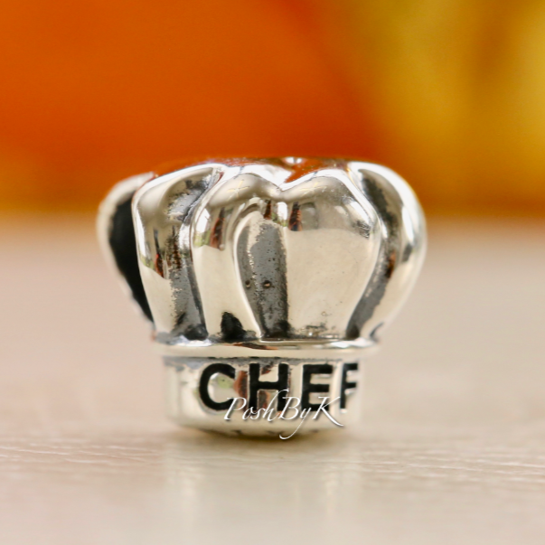 Pandora I Love Cooking Chef Hat Bead Charm 791500 *Retired* - Posh By K