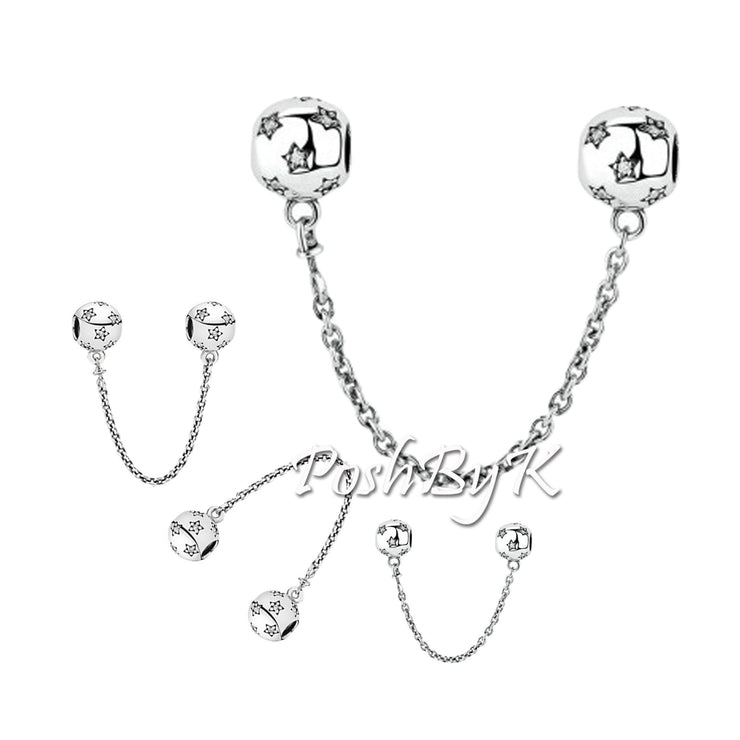 Pandora Asian-Exclusive Starry Safety Chain Charm, jewelry, beads for pandora, beads for pandora bracelets, charms for pandora, beaded jewelry, pandora jewelry, pandora beads, pandora charms, disney pandora beads