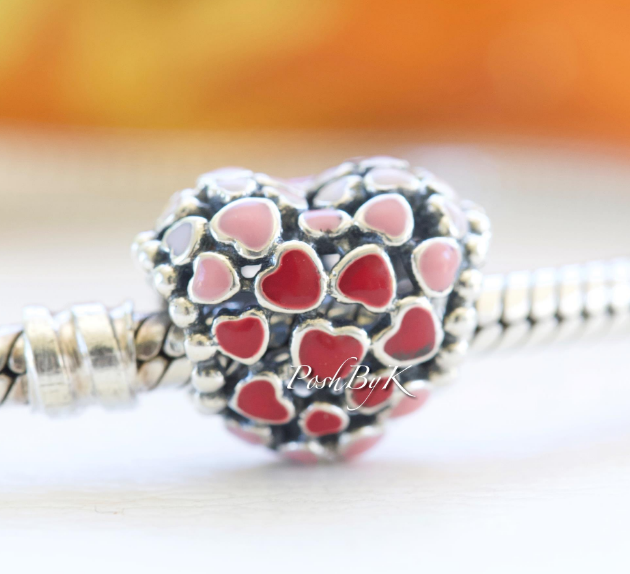 Pandora Red & Pink Hearts Charm 796557ENMX - Posh By K