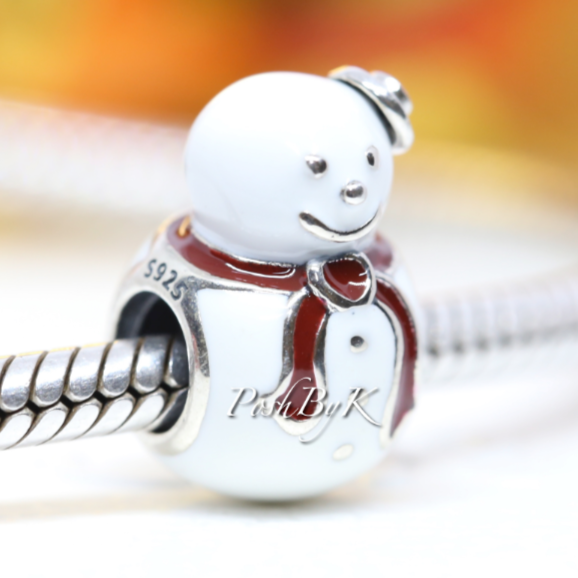 Pandora Happy Snowman Charm 791406ENMX - Posh By K
