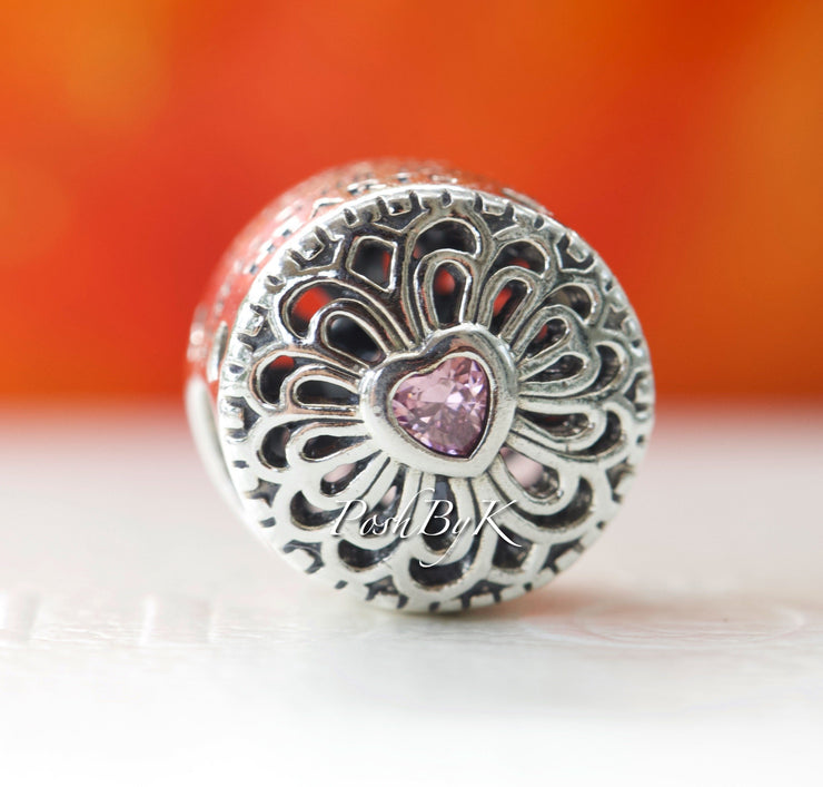 Pandora  Love And Friendship With Pink C.Z Bead Charm 791955PCZ - Posh By K