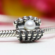 Pandora White Pearl Shell Beach Charm 791134P - Posh By K