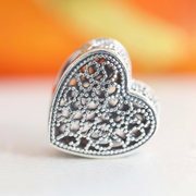 Pandora Filigree & Beaded Heart Charm 791811 - Posh By K