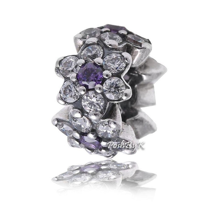 Pandora Forget Me Not Spacer Charm 791834ACZ - Posh By K