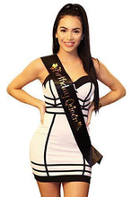 Black Satin Birthday Queen Sash - Posh By K