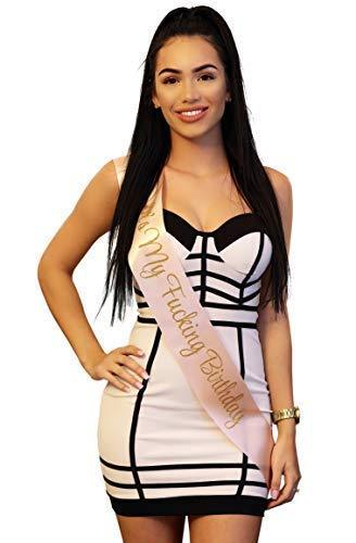 It's My F****g Birthday Sash (Beige) - Posh By K