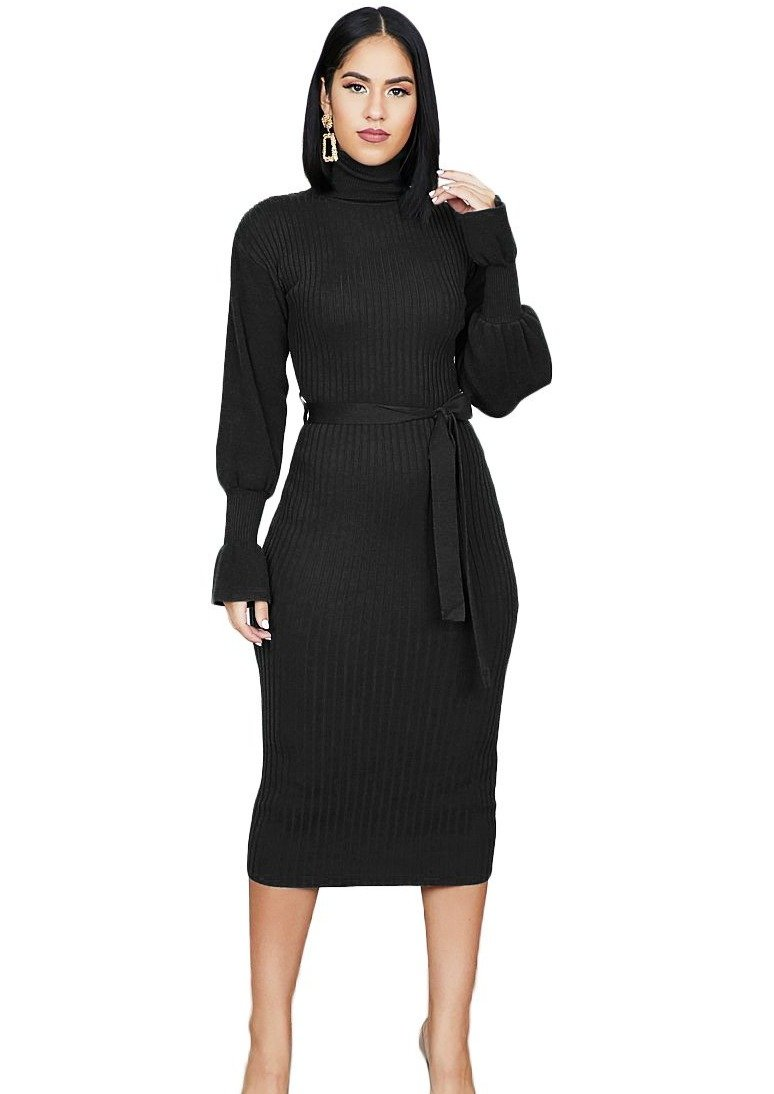 Sunshine Knit Maxi Dress (Black) - Posh By K