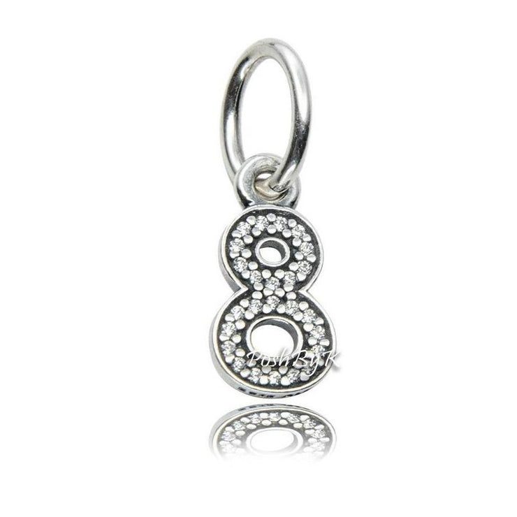 Pandora Hanging Number 8 Charm 791346CZ - Posh By K