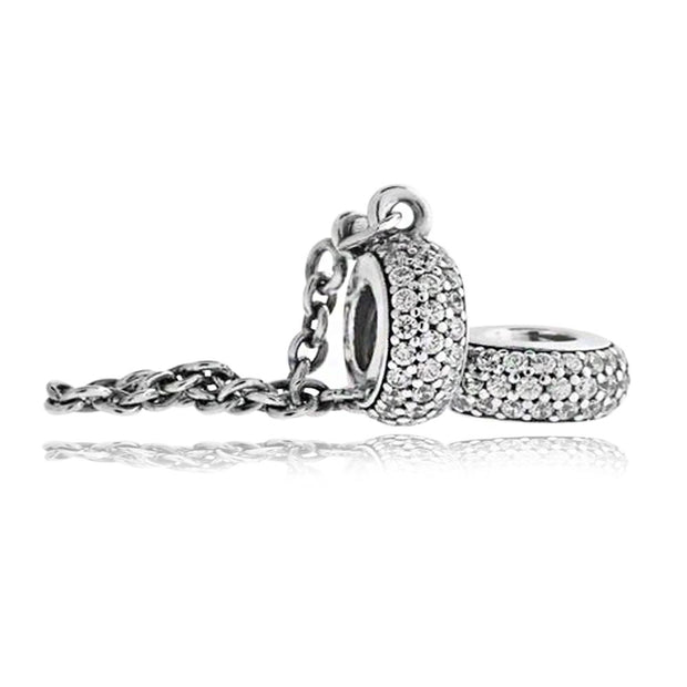 Pandora Pave Inspiration Safety Chain Charm  791736CZ-05 - Posh By K