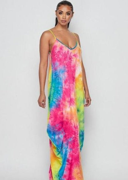Blenda Smokey Rainbow Tie-Dye Print Maxi Shirt Dress,casual dress,maternity dress,pregnant dress,ootd,fashion Clothing,womens clothes,fashion blog,fashion trends,Streetwear ,Stand Out ,Sexy Trend, Online Shopping ,sexy dress,summer dress,beach dress, pregnant women,maternity dress