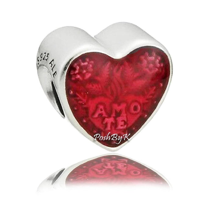 Pandora Latin Love Heart Charm 792048EN117 - Posh By K