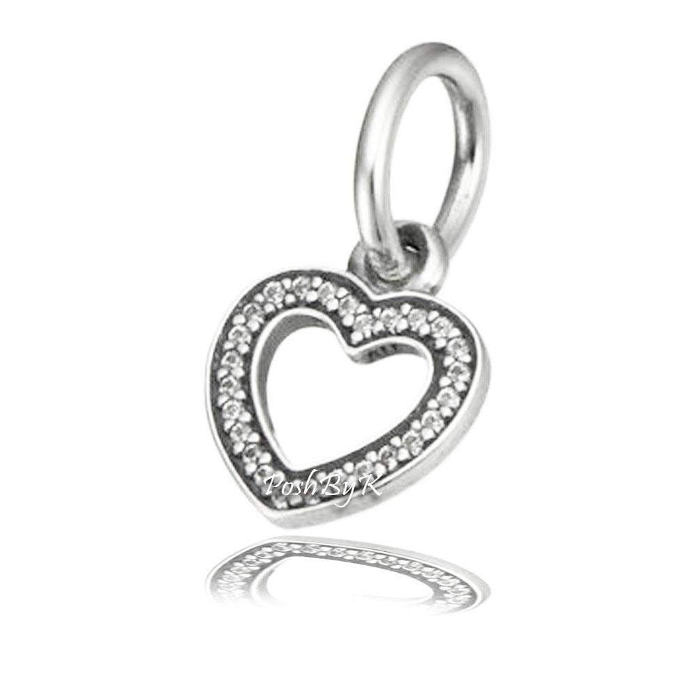 Pandora Symbol of Love Pendant Charm 791304CZ - Posh By K