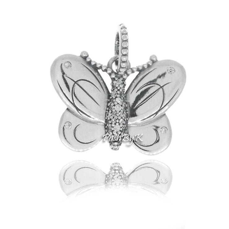 Pandora Decorative Butterfly Pendant Charm 397933CZ - Posh By K