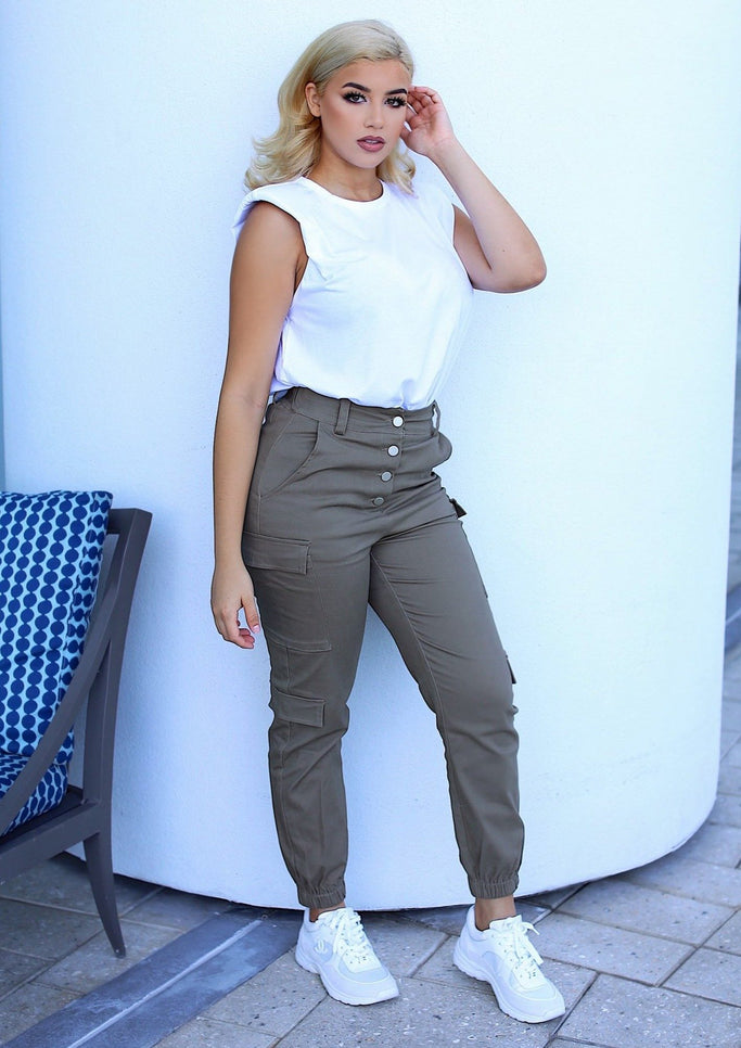 Carried Away High Waist Jogger Pants (Light Olive), ootd,fashion Clothing,womens clothes,fashion blog,fashion trends,Streetwear ,Stand Out ,Sexy Trend, Online Shopping , Party wear JOgger