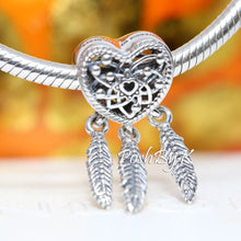 Pandora Openwork Heart & Three Feathers Dreamcatcher Charm 799107C00, -pandora jewelry, beads for pandora, beads for pandora bracelets, charms for pandora, beaded jewelry, pandora jewelry, pandora beads, pandora charms