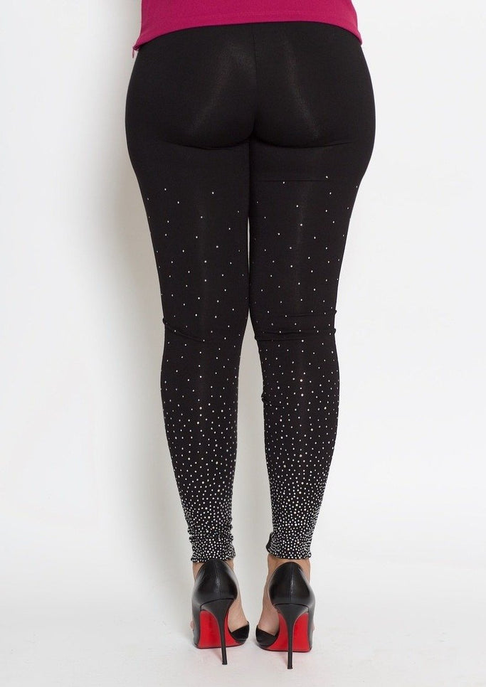 Melissa Studded Leggings (Black )