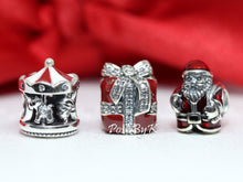 Pandora Christmas Carousel, Sparkling Surprise and St. Nick Christmas Gift Set Charm, pandora jewelry, beads for pandora, beads for pandora bracelets, charms for pandora, beaded jewelry, pandora jewelry, pandora beads, pandora charms