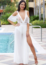 Amara Bikini Cover Up (White) - Posh By K , ootd,fashion Clothing,womens clothes,fashion blog,fashion trends,Streetwear ,Stand Out ,Sexy Trend, Online Shopping , beach wear, cover up dress, summer fashion