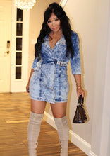 Women Rustic Denim Mini Dress