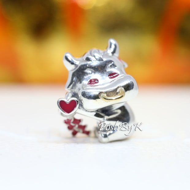 Pandora Cute Ox With 14k Gold Charm 799268C01