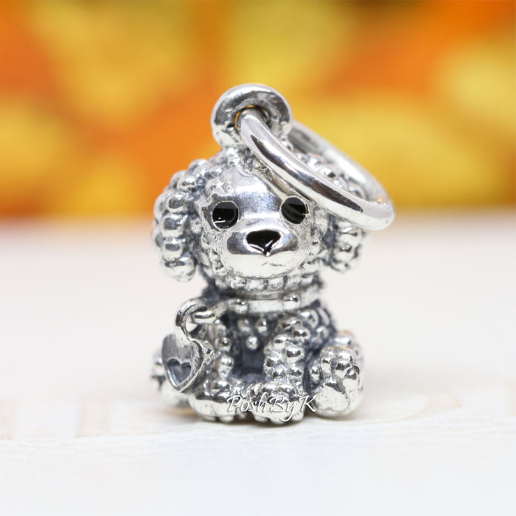 Pandora Poodle Puppy Dog Charm 798871C01 - Posh By K