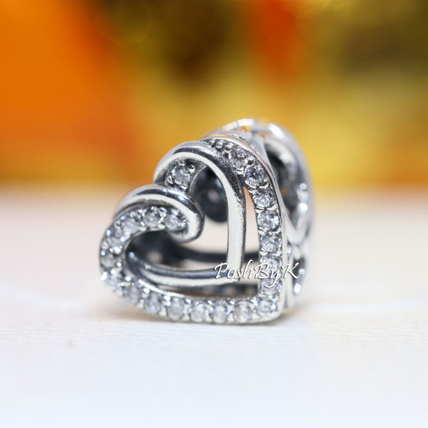 Pandora Sparkling Entwined Hearts Charm 799270C01