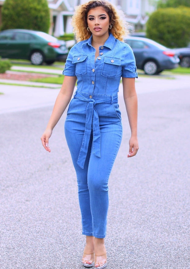 Hasita Denim Jumpsuit (Medium Blue).