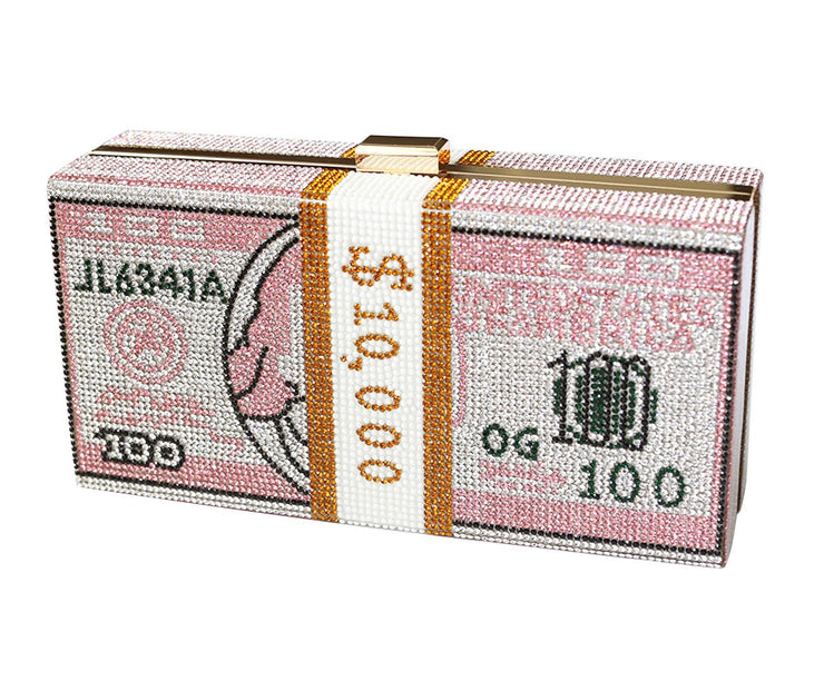 Money Dollar Bill Clutch Purse (Pink) - Posh By K