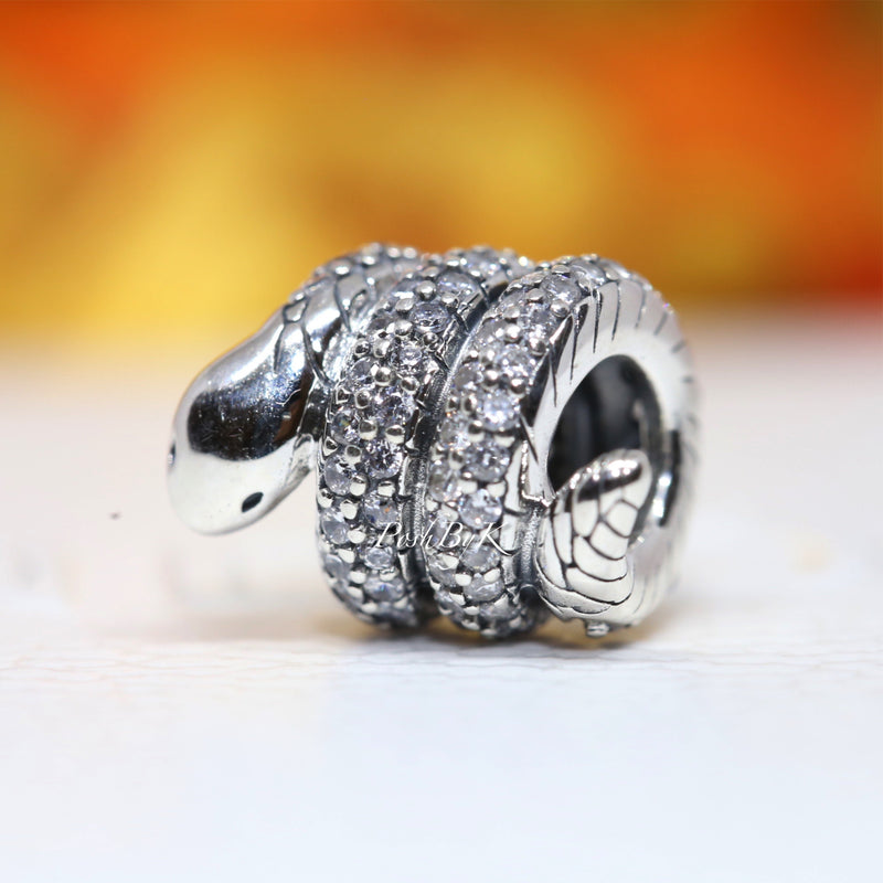 Sparkling Wrapped Snake Charm 799099C01