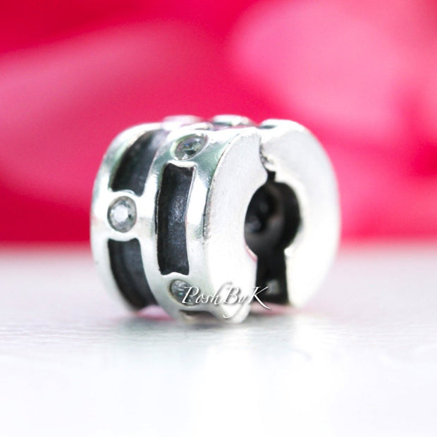 "PANDORA Sparkling Abstract Clip Charm 790291CZ ""Retired"" - Posh By K"