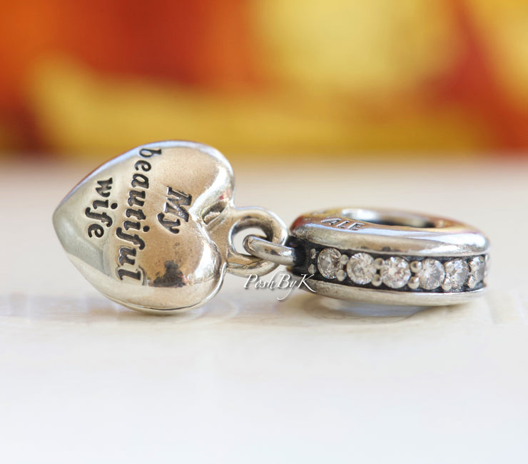 Pandora My Beautiful Wife Locket Dangle Charm - Posh By K
