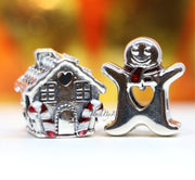 Pandora Gingerbread House And Sweet Gingerbread Man Christmas Gift Set Charm - Posh By K