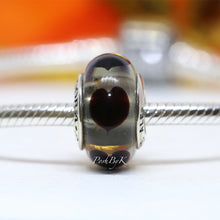 Pandora Black Love Hearts Murano Glass Charm 790665 - Posh By K