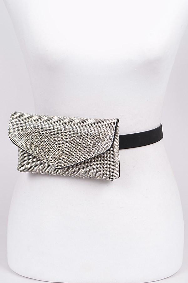 Rhinestone Embellished Bling Studded Fanny Pack Bag, ootd,fashion blog,fashion trends,Streetwear ,Stand Out ,Sexy Trend, Online Shopping , prom accesories, party bag,casual bag, elegant fanny pack
