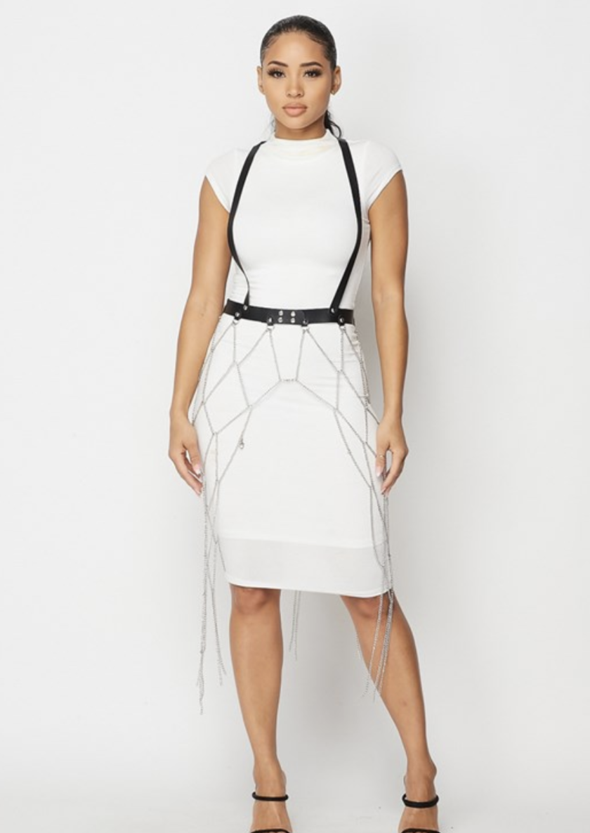 DONT NEED THEM HARNESS CHAIN BELT - Posh By K