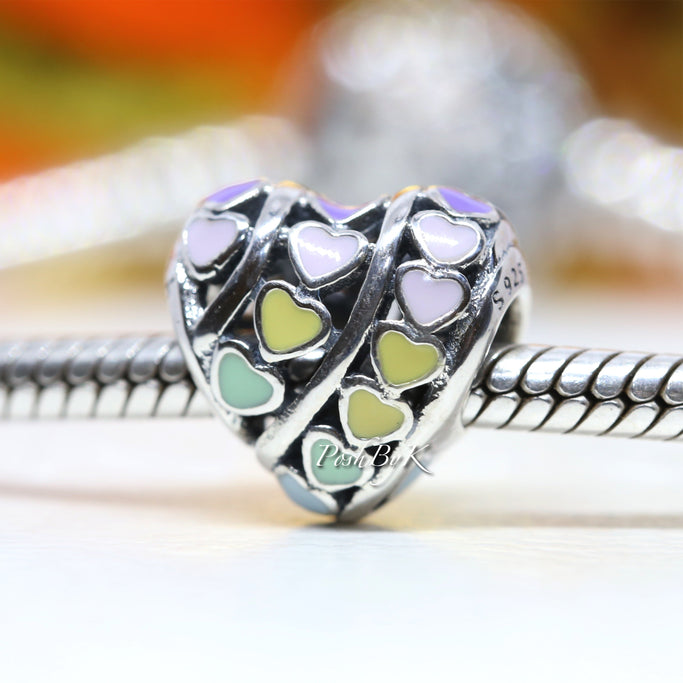 Pandora Rainbow Hearts Charm 797019ENMX - Posh By K