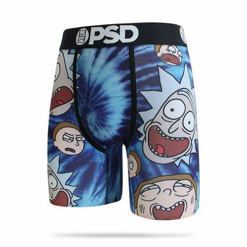 PSD Rick and Morty Tie Dye Heads Boxer Briefs - Posh By K