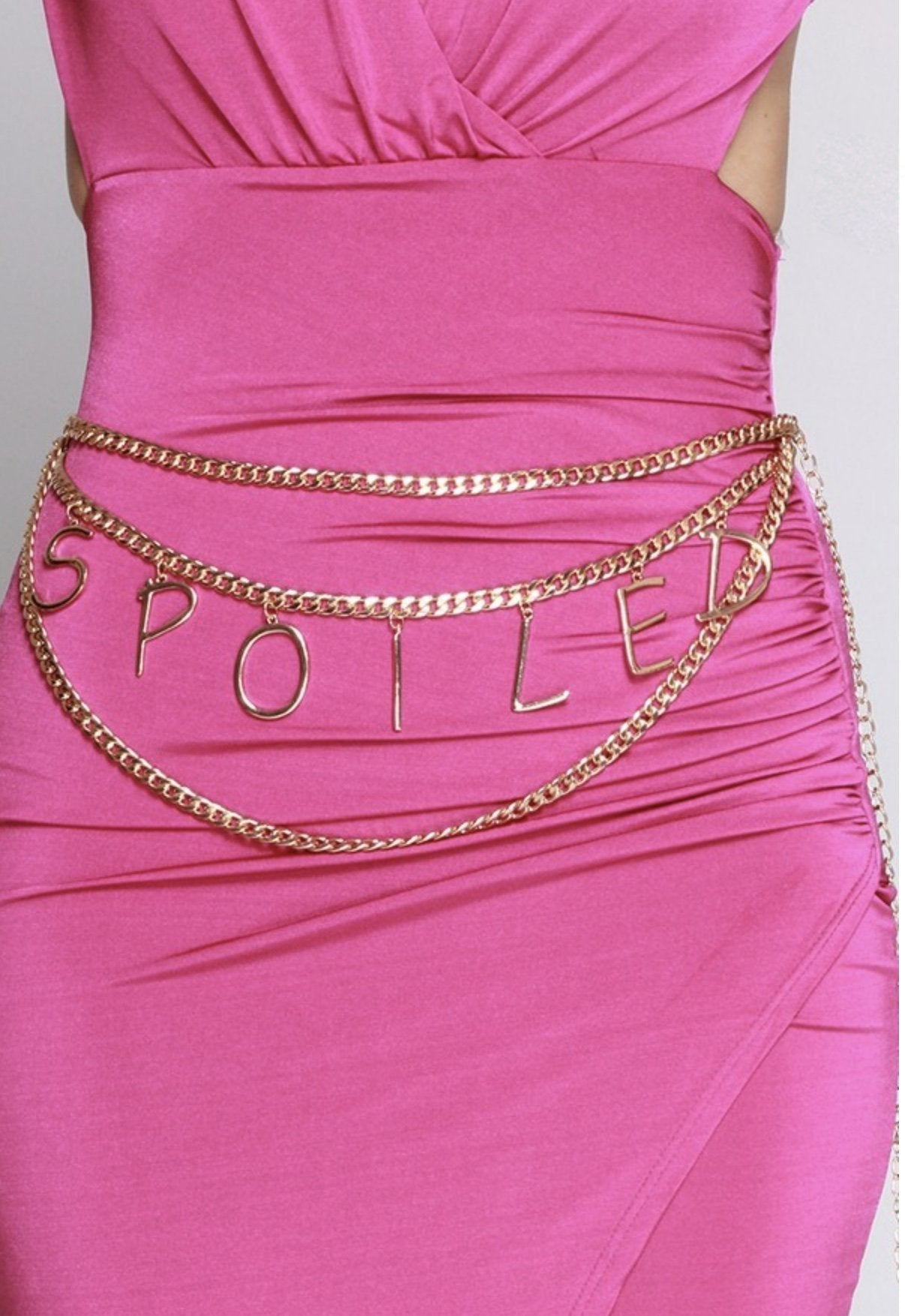 Spoiled Gold Plate Triple Layer Chain Belt