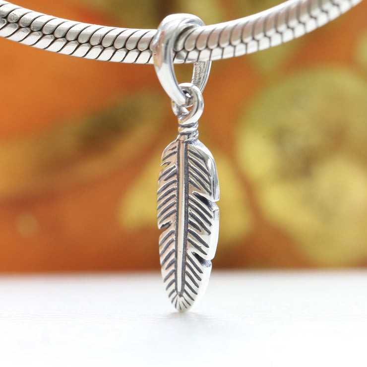 Pandora Spiritual Feather Dangle Charm 397216 - Posh By K