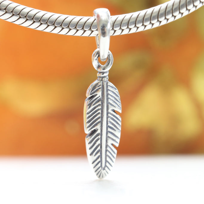 Pandora Spiritual Feather Dangle Charm 397216