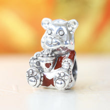Christmas Teddy Bear Charm 797564ENMX - Posh By K