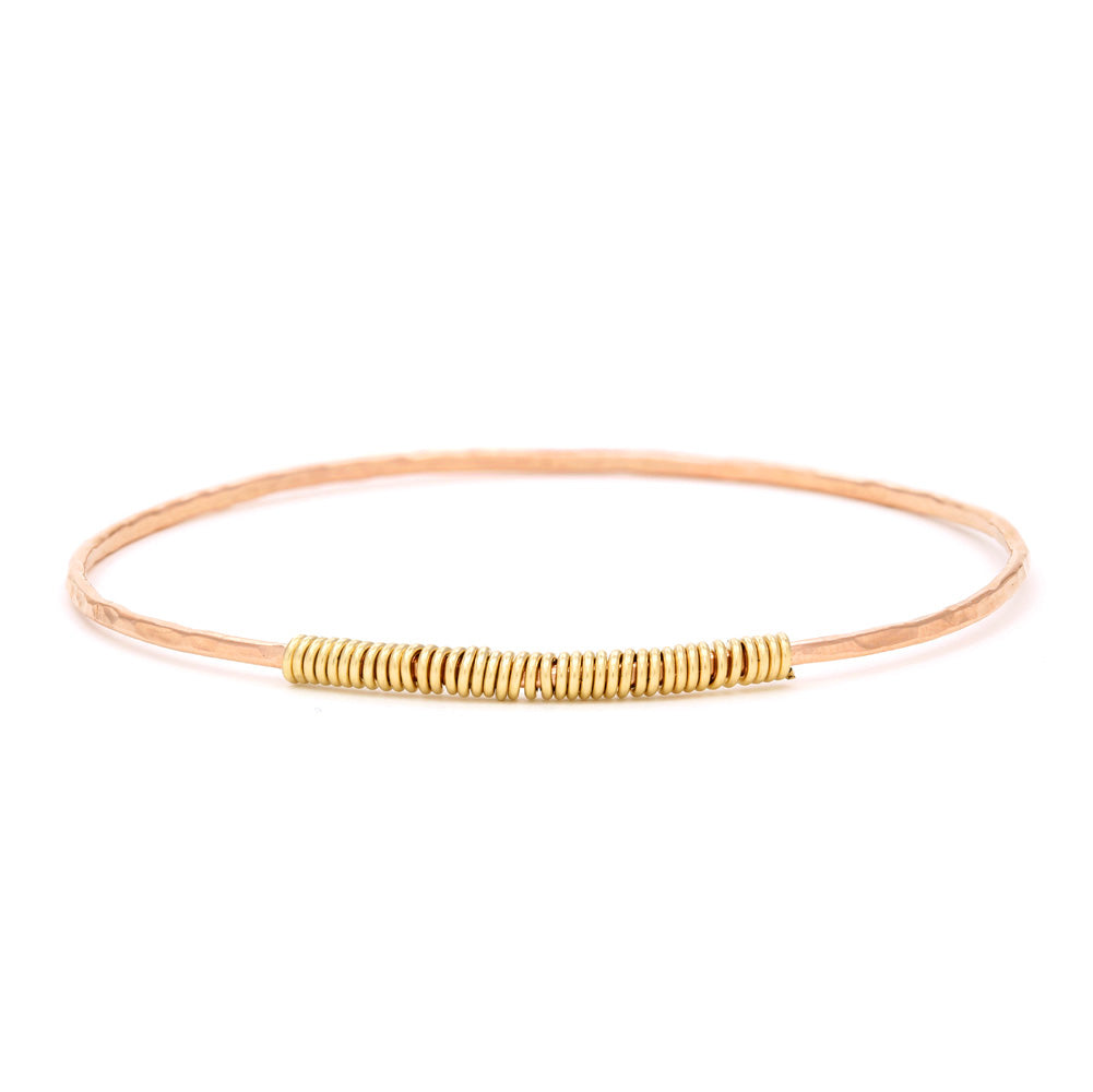 Rose Gold Filled Single Bangle & Wrap